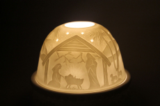 Porzellan Windlicht Dome Light Krippe Christ Geburt