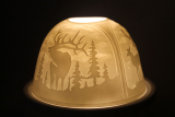 Porzellan Windlicht Dome Light Hirsche