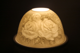 Porzellan Windlicht Dome Light Rosen
